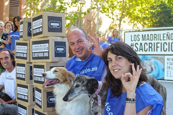 El Refugio entrega 61.832 firmas de madrileños por el #sacrificiozero