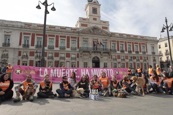 Aprobada la ILP #sacrificiozero de El Refugio para prohibir el sacrificio de animales abandonados en la Comunidad de Madrid.