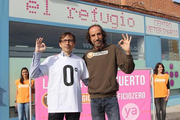 Ramón Marcos, candidato de UPyD a la Comunidad de Madrid, con El Refugio a favor del #sacrifciozero
