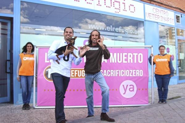 El candidato de Ciudadanos a la Presidencia de la Comunidad de Madrid, apoya el #sacrificiozero