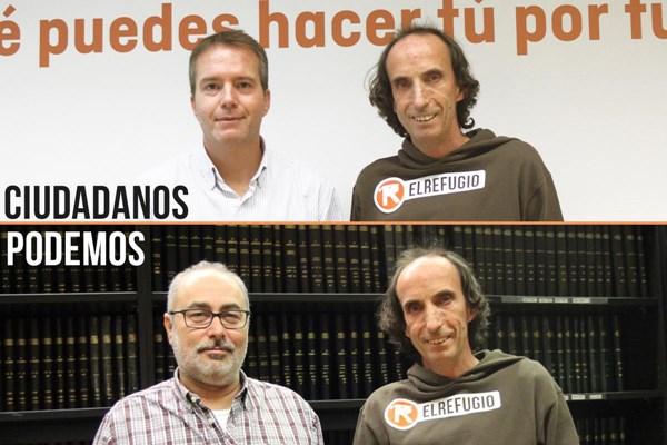 EL REFUGIO SE REÚNE CON PODEMOS Y CIUDADANOS EN LA ASAMBLEA DE MADRID.