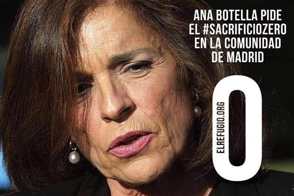 La Alcaldesa de Madrid, Ana Botella, pide el sacrificio cero en la Feria del Libro