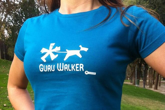Camiseta Chica Guau Walker Azul