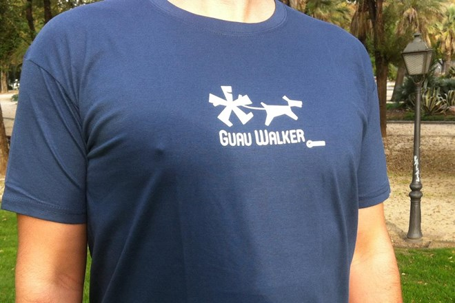 Camiseta Chico Guau Walker Azul Denim