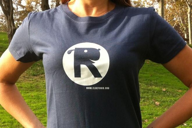 Camiseta Chica El Refugio Azul Denim