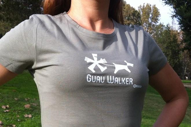 Camiseta Chica Guau Walker Caqui