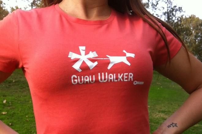 Camiseta Chica Guau Walker Coral