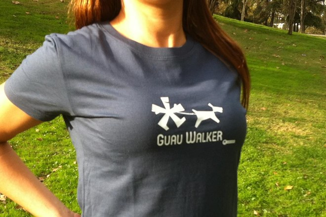 Camiseta Chica Guau Walker Azul Denim